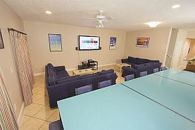 Sky Blue Vacation Condo Myrtle Beach - Living/Dining Area